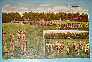 Military WACS In Review Postcard (Image1)