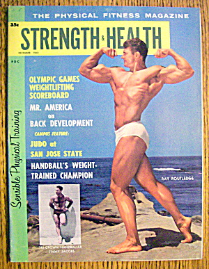 Strength & Health Magazine-december 1960-ray Routledge