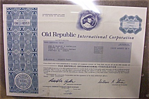 Stock Certificate - 1985 Old Republic International (Image1)