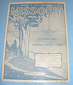 1916 Missouri Waltz Song