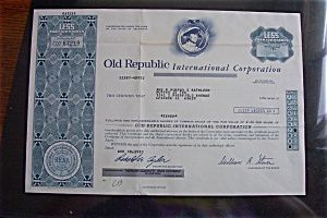 Stock Certificate - 1983 Old Republic International (Image1)