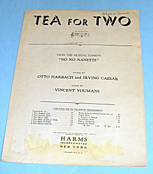 1924 Tea For Two By Harbach And Caesar