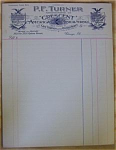 World's  Fair - 1893 P. F. Turner Mfg. Invoice (Image1)