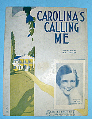 1931 Carlolina Calling Me Introduced By Alice Joy