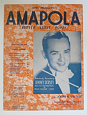 1933 Amapola (Pretty Little Poppy) By Joseph Lacalle