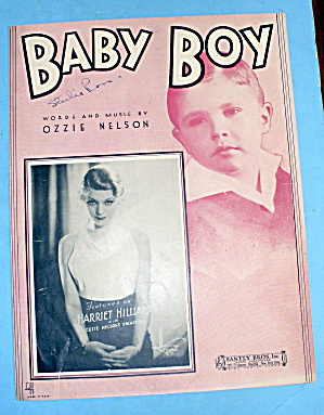 1933 Baby Boy By Ozzie Nelson Features Harriet Hilliard