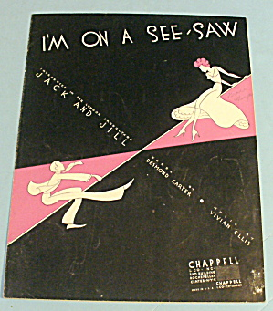 1934 I'm On A See Saw By Carter & Ellis