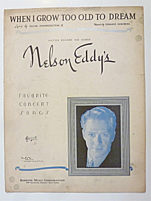Sheet Music For 1935 When I Grow Too Old To Dream