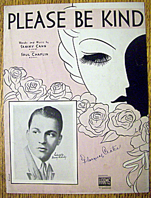 1938 Please Be Kind Featuring Barry Mckinley By S. Cahn