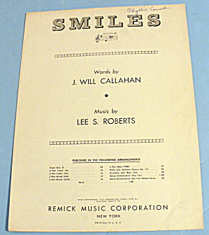 1941 Smiles By J. Will Callahan And Lee Roberts