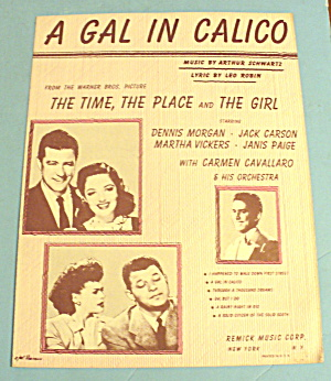 1946 A Gal In Calico By Arthur Schwartz And Leo Robin