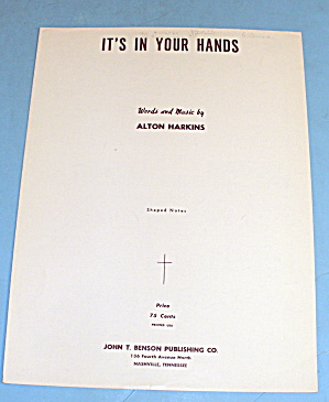 1964 It's In Your Hands By Alton Harkins