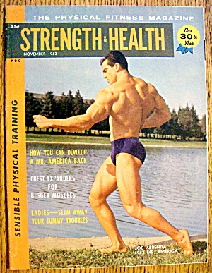 Strength & Health Magazine-november 1962-joe Abbenda