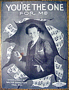 Sheet Music For 1927 You're The One For Me