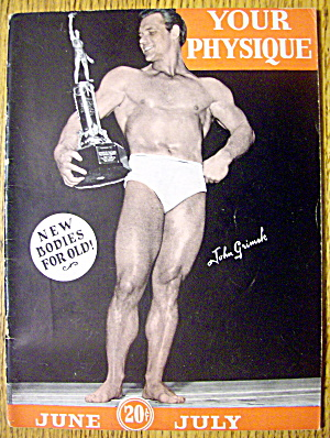 Your Physique Magazine-june & July 1945-john Grimek