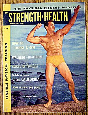 Strength & Health Magazine-february 1962-charles Pranke