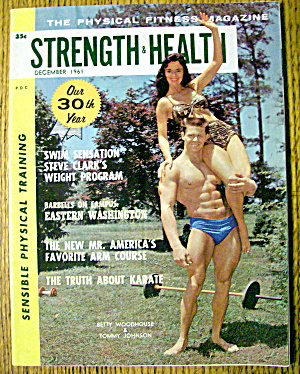 Strength & Health Magazine-betty & Tommy-december 1961