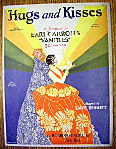 Sheet Music For 1926 Hugs And Kisses