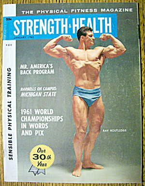 Strength & Health Magazine-ray Routledge-january 1962