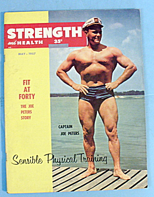 Strength & Health Magazine-may 1957-joe Peters