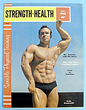 Strength & Health Magazine, May 1958 - Irvin Koszewski