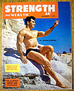 Strength & Health August 1953 Al Scharchiapone