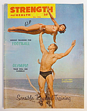 Strength & Health October 1956 Al & Vera Christensen (Image1)