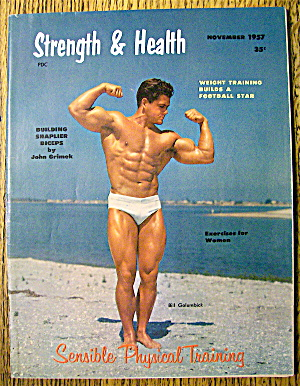 Strength & Health Magazine November 1957 Bill Golumbick