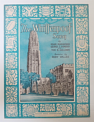 Sheet Music For 1936 The Whiffenpoof Song