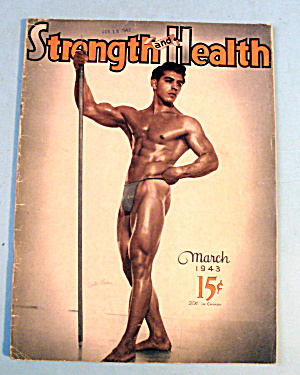 Strength & Health Magazine, March 1943 - Santo Leone