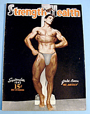 Strength & Health Magazine September 1943 - Jules Bacon