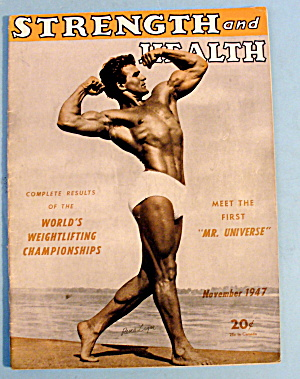 Strength & Health Magazine, November 1947 - Rene Leger