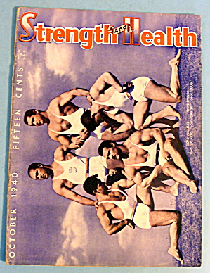 Strength & Health Magazine October 1940 Grimek & More
