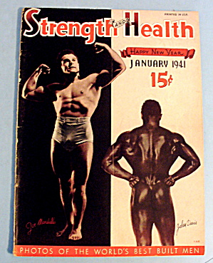 Strength & Health January 1941 Joe Mandallo/john Davis