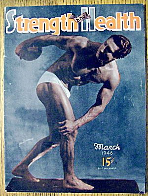 Strength & Health Magazine March 1946 Joe Lauriane