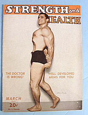 Strength & Health Magazine March 1947 Steve Stanko