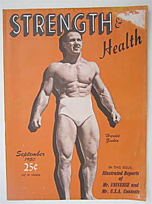 Strength & Health Magazine September 1950 Harold Zinkin