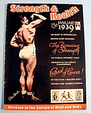 Strength & Health Magazine January 1939 Steve Stanko