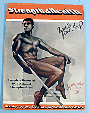 Strength & Health Magazine September 1939 Bert Goodrich