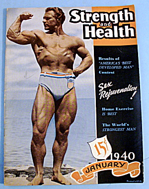 Strength & Health Magazine January 1940 John Grimek