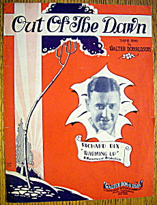 Sheet Music For 1928 Out Of The Dawn