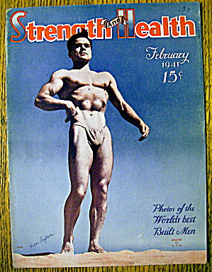 Walter Baptiste 1941 Strength & Health Magazine Cover
