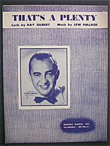 Sheet Music For 1950 That's A Plenty