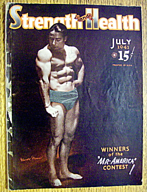 Harold Woomer 1941 Strength & Health Magazine Cover