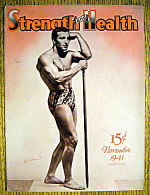 Emil Bonnet 1941 Strength & Health Magazine Cover
