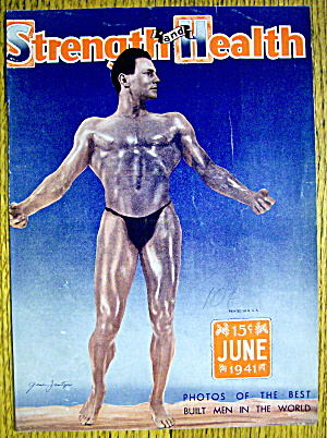 Gene Jantzen 1941 Strength & Health Magazine Cover