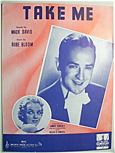 Sheet Music For 1942 Take Me (Helen O'connell)