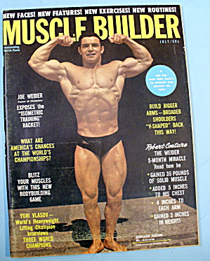 Muscle Builder Magazine July 1962 Bernard Naceri