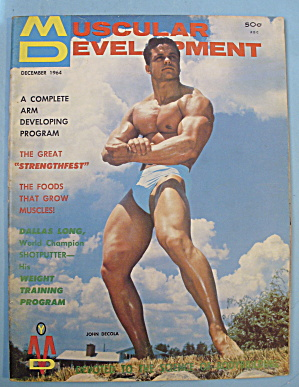 Muscular Development Magazine December 1964 John Decola