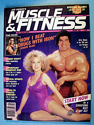 Muscle & Fitness January 1986 Betty Weider/lou Ferrigno